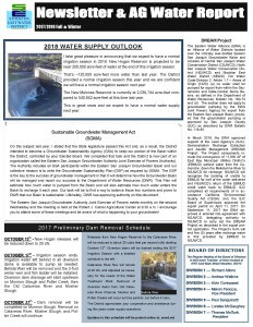 2017-18 SEWD Fall/Winter Newsletter and AG Water Report