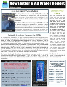 2018-19 SEWD Spring/Summer Newsletter and AG Water Report