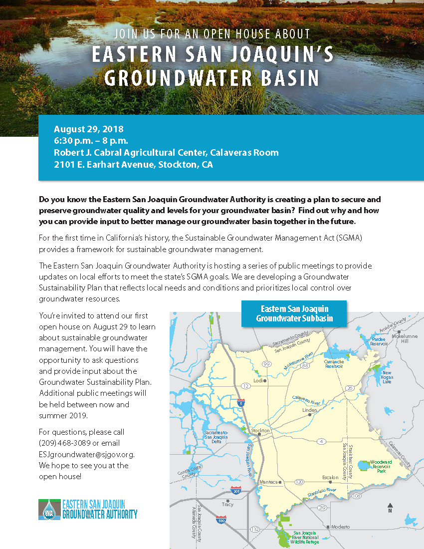 Eastern San Joaquin's Groundwater Basin Open House