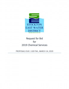Request for Bid-2019 Chemical Services-021419