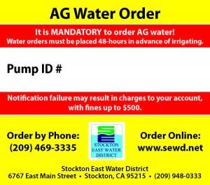 Ag Pump Sticker - English